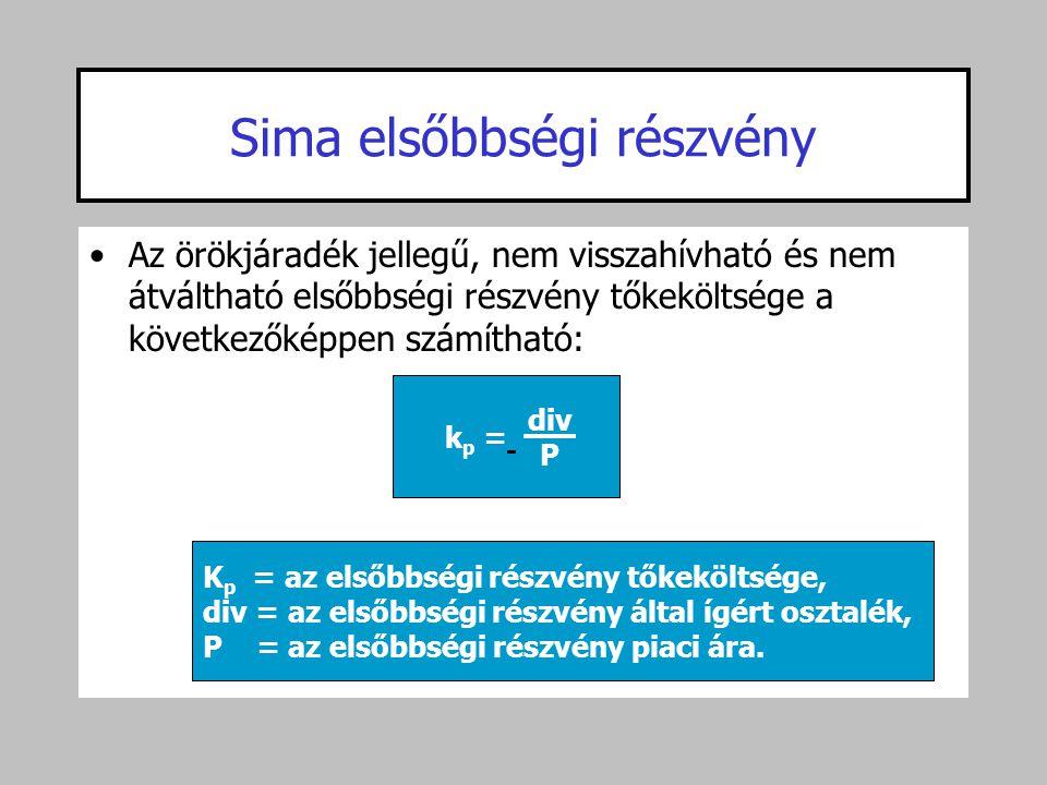 Sima elsőbbségi részvény