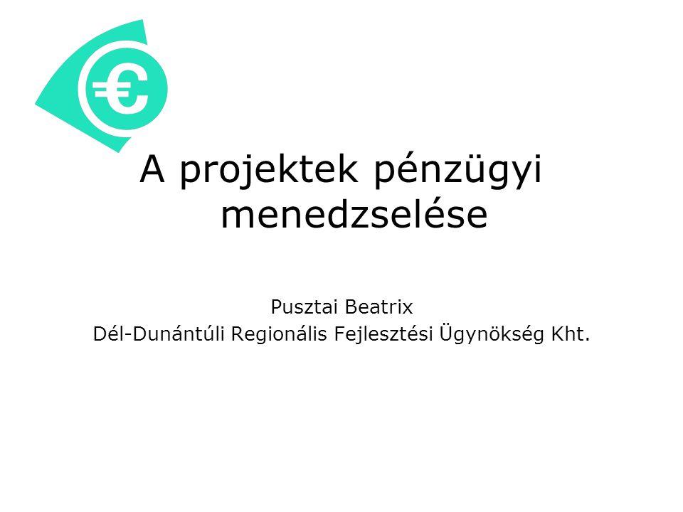 A projektek pénzügyi menedzselése