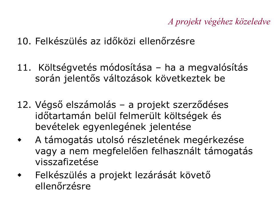 A projekt végéhez közeledve