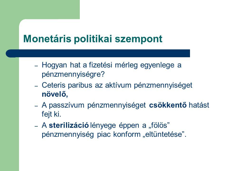 Monetáris politikai szempont