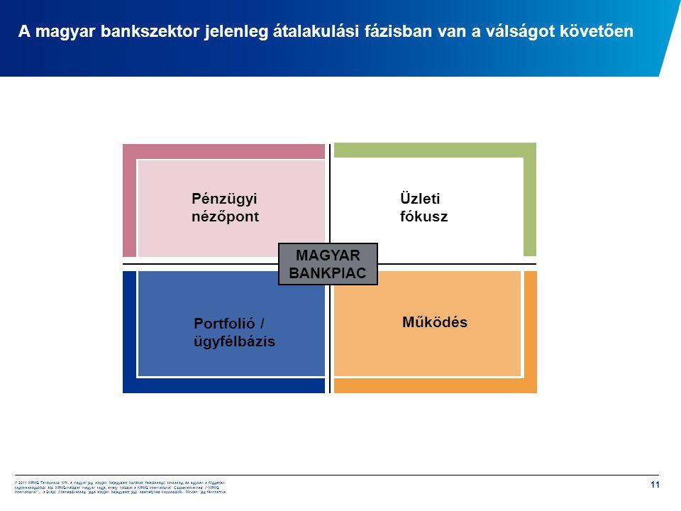 A magyar bankszektor jelenleg átalakulási fázisban van a válságot követően