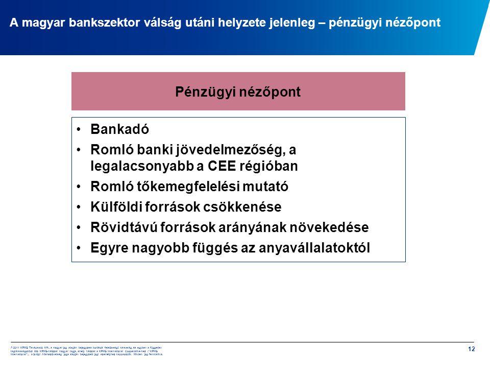 Romló banki jövedelmezőség, a legalacsonyabb a CEE régióban