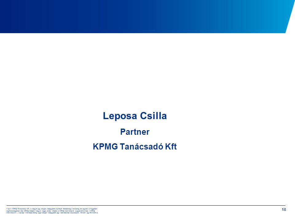 Leposa Csilla Partner KPMG Tanácsadó Kft