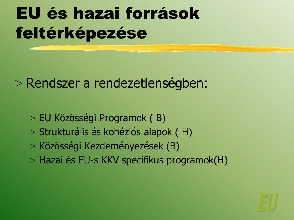 EU és hazai források feltérképezése
