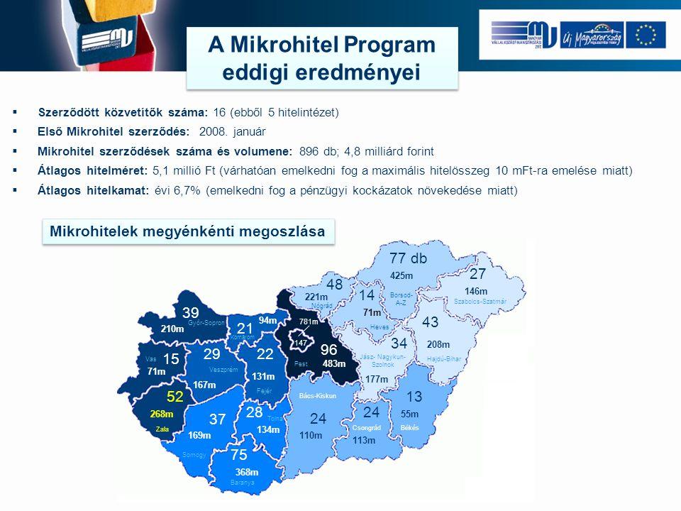 A Mikrohitel Program eddigi eredményei