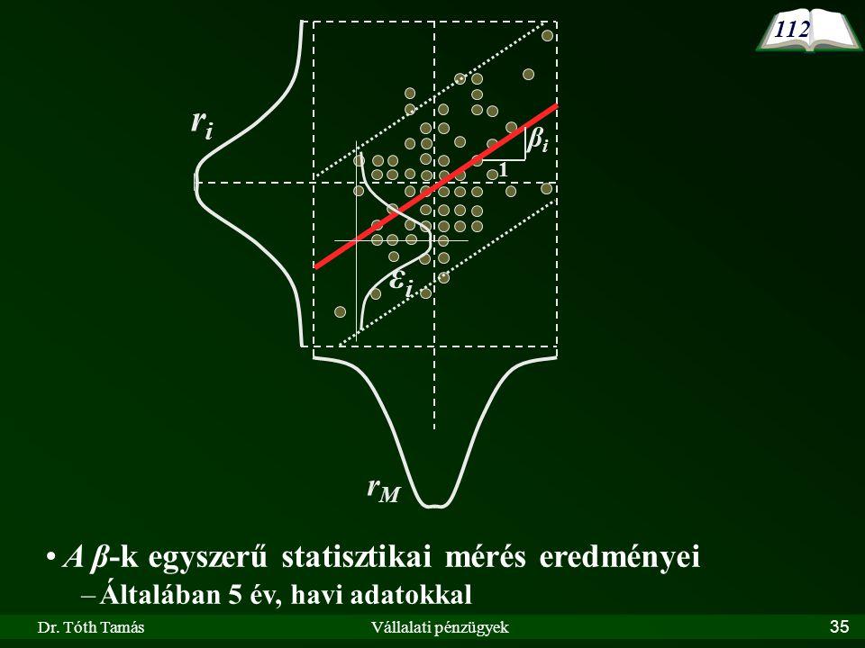 ri εi rM A β-k egyszerű statisztikai mérés eredményei βi