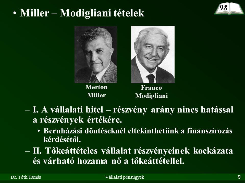 Miller – Modigliani tételek