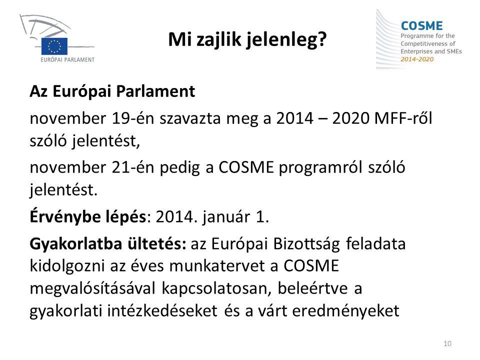 Mi zajlik jelenleg Az Európai Parlament