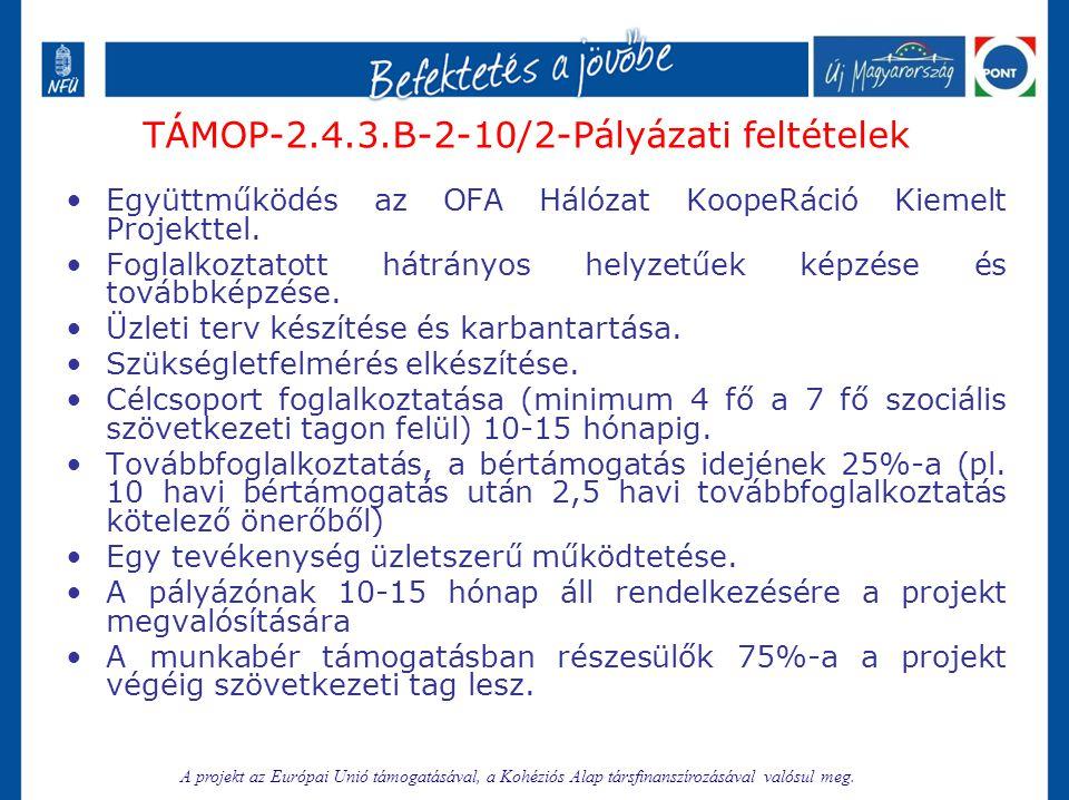 TÁMOP-2.4.3.B-2-10/2-Pályázati feltételek