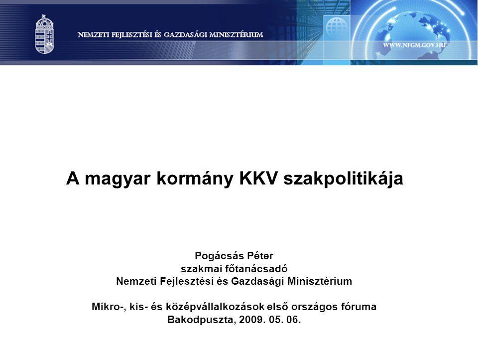 A magyar kormány KKV szakpolitikája