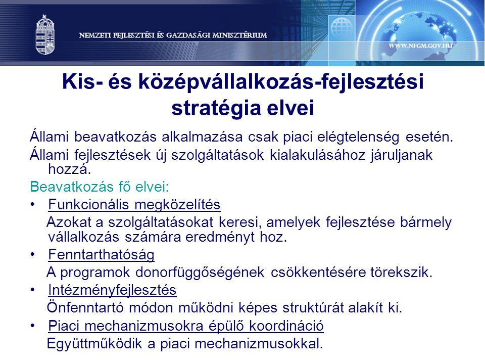Kis- és középvállalkozás-fejlesztési stratégia elvei
