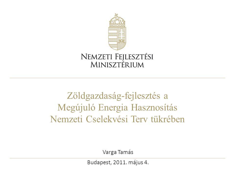 Zöldgazdaság-fejlesztés a Megújuló Energia Hasznosítás Nemzeti Cselekvési Terv tükrében