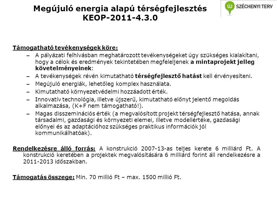 Megújuló energia alapú térségfejlesztés KEOP-2011-4.3.0