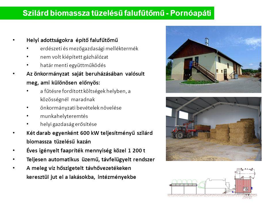 Szilárd biomassza tüzelésű falufűtőmű - Pornóapáti