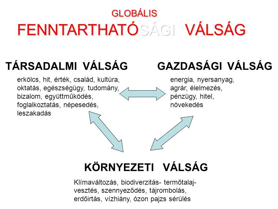 GLOBÁLIS FENNTARTHATÓSÁGI VÁLSÁG