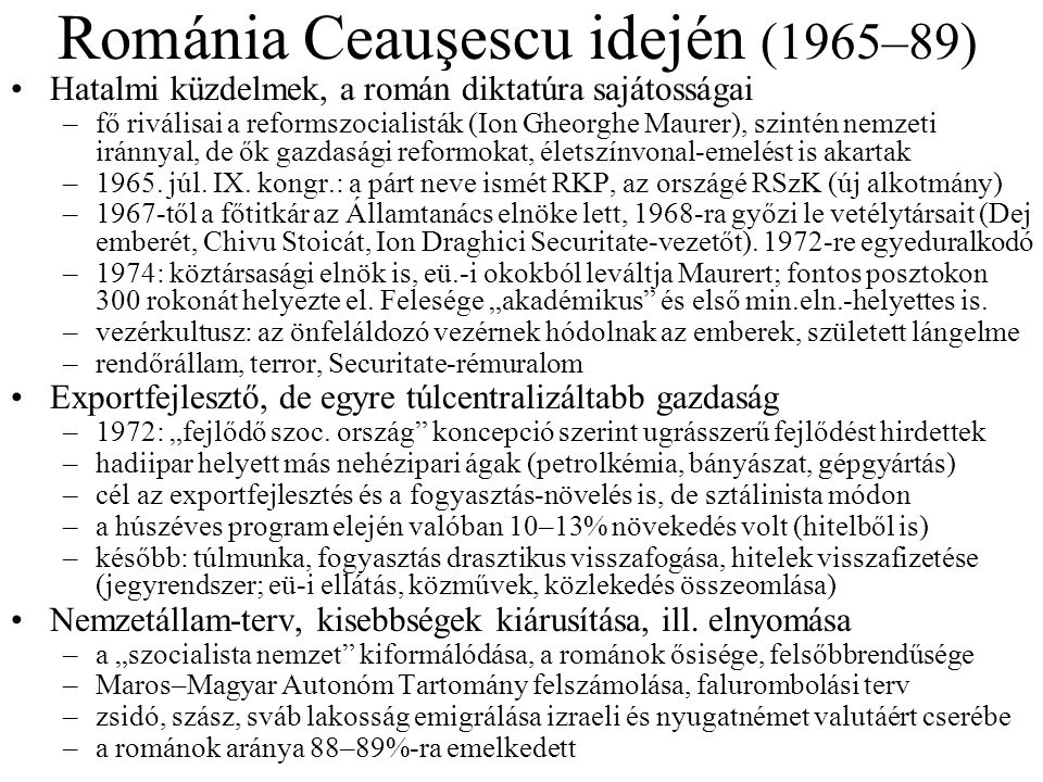 Románia Ceauşescu idején (1965–89)