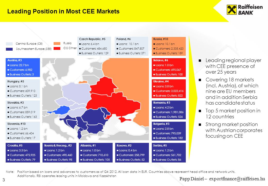 Leading Position in Most CEE Markets