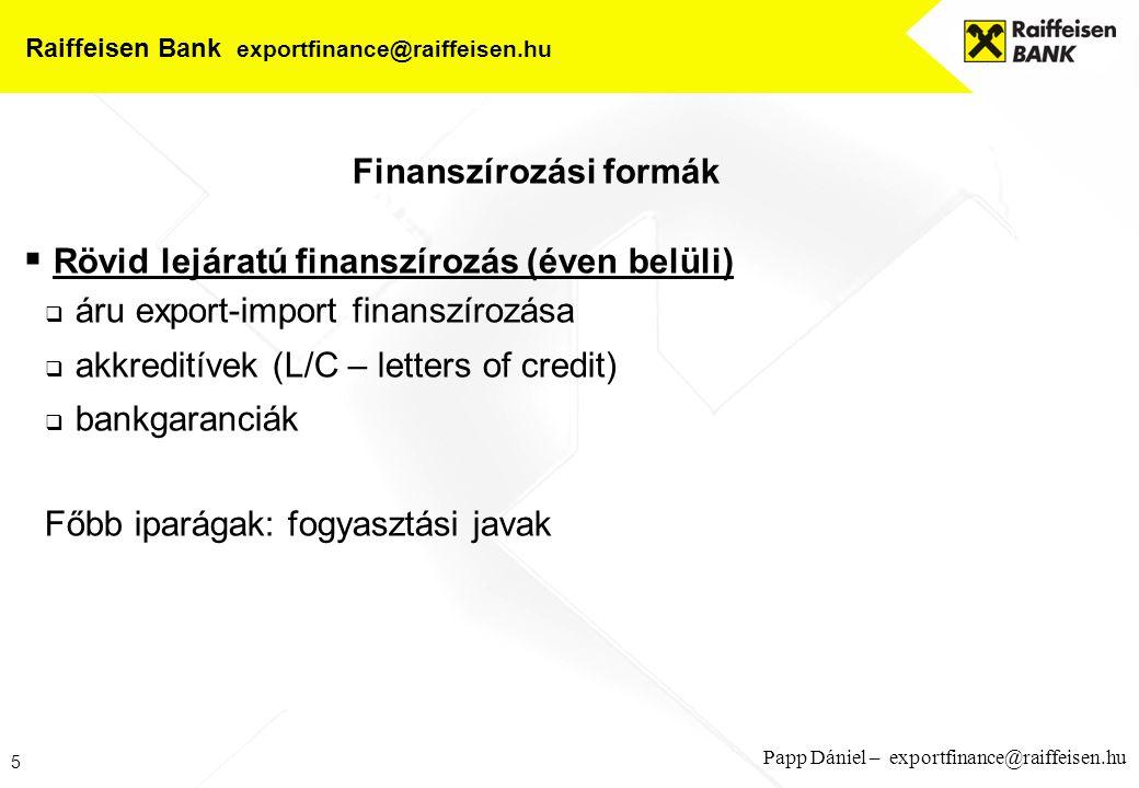 Raiffeisen Bank exportfinance@raiffeisen.hu