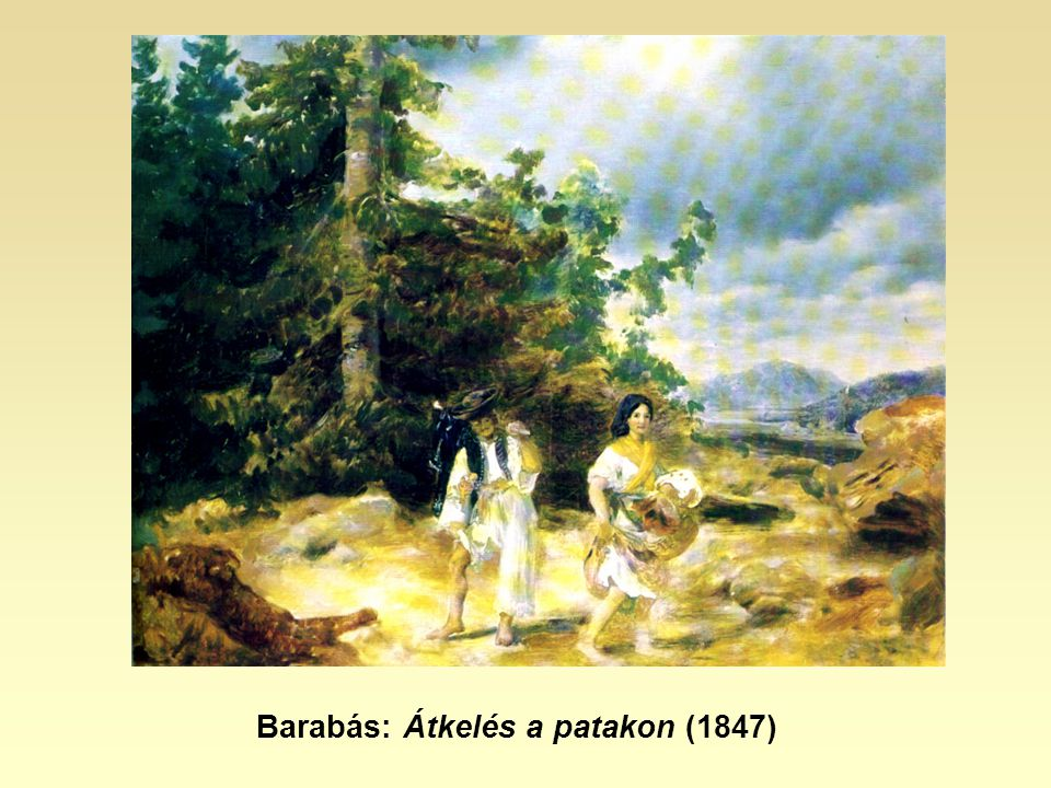 Barabás: Átkelés a patakon (1847)