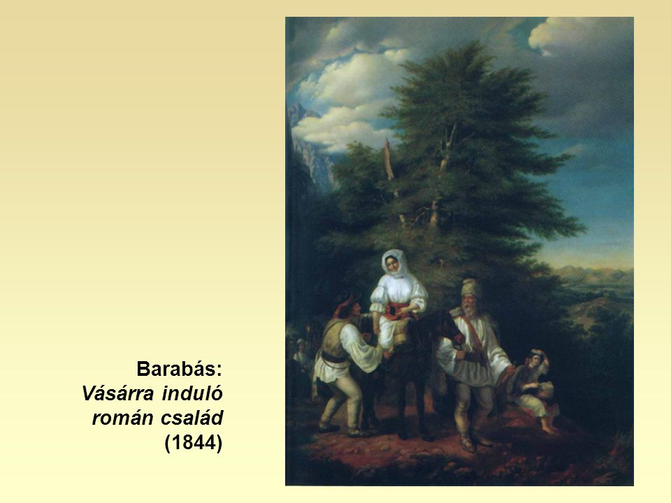 Barabás: Vásárra induló román család (1844)