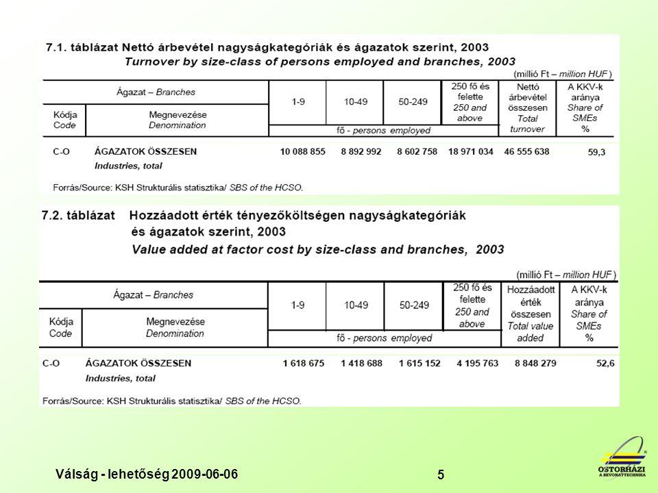 Nettó árbevételt tekintve a KKV-k 2003-ban 27 584 milliárd 604 millió forintot értek el. Ez az összes vállalat árbevételének az 59,3%-a volt
