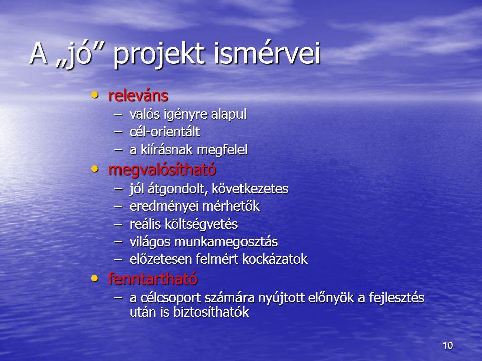 """A """"jó projekt ismérvei"""