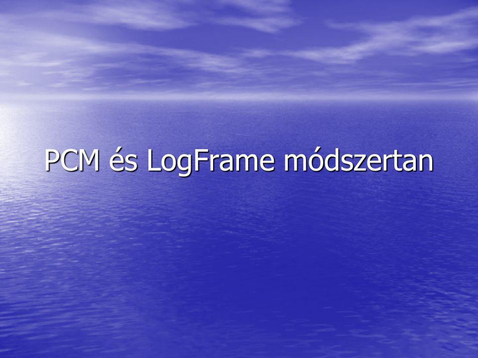 PCM és LogFrame módszertan