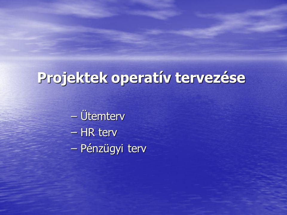 Projektek operatív tervezése