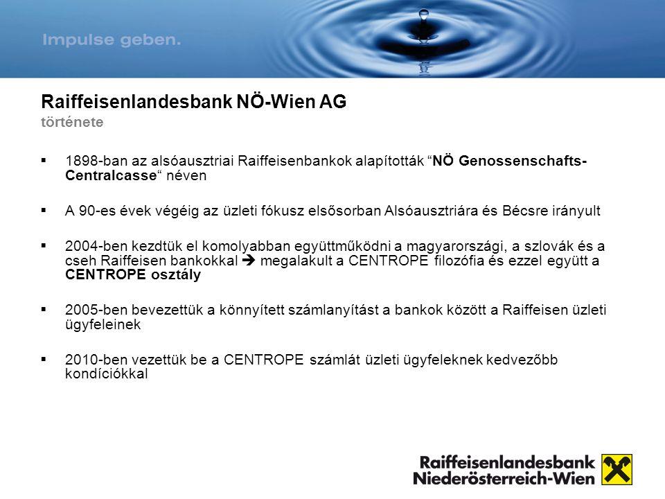 Raiffeisenlandesbank NÖ-Wien AG története