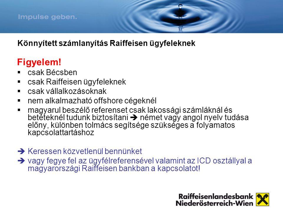 Könnyített számlanyítás Raiffeisen ügyfeleknek
