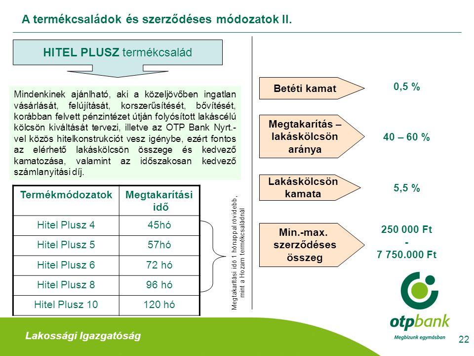A termékcsaládok és szerződéses módozatok II.