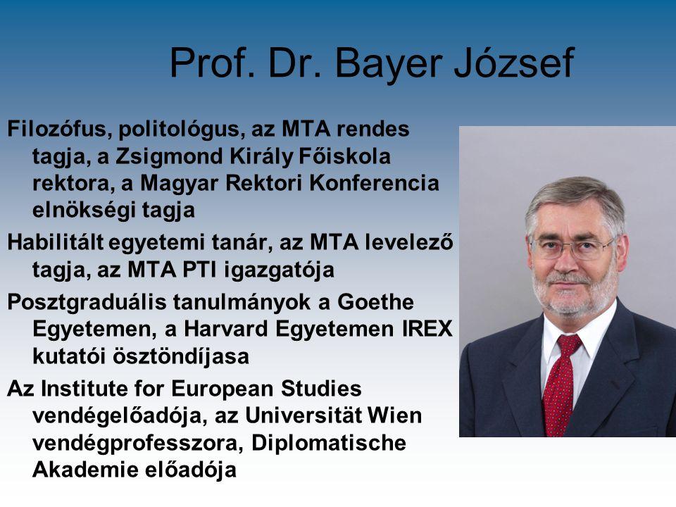 Prof. Dr. Bayer József