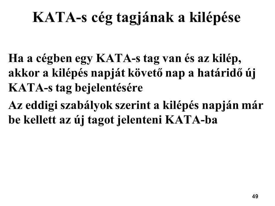 KATA-s cég tagjának a kilépése