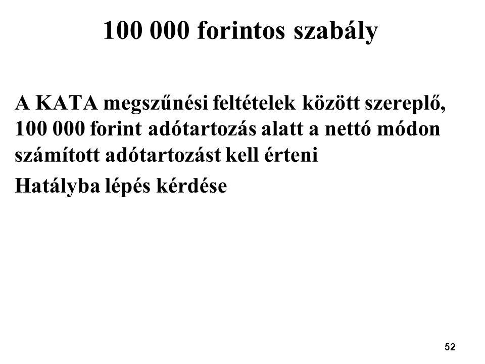 100 000 forintos szabály