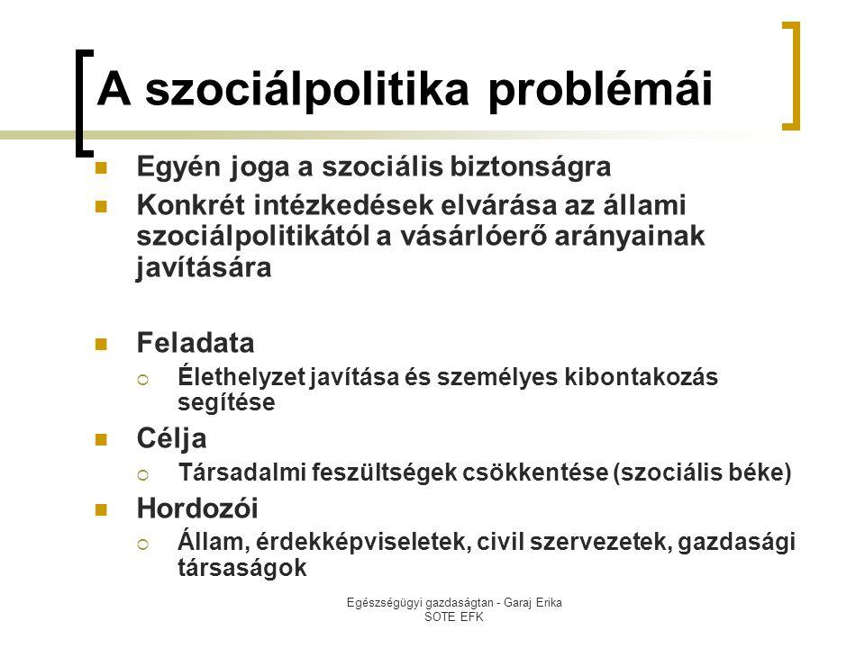 A szociálpolitika problémái