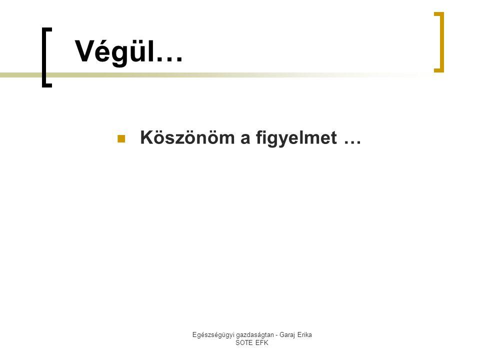 Egészségügyi gazdaságtan - Garaj Erika SOTE EFK