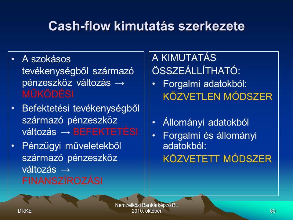 Cash-flow kimutatás szerkezete