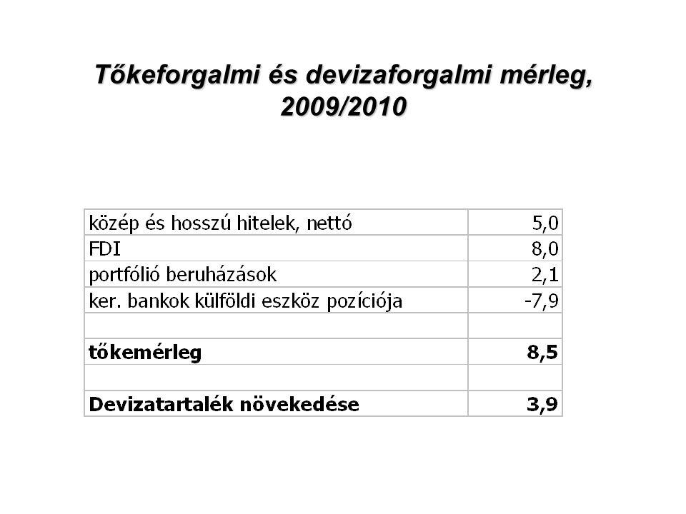 Tőkeforgalmi és devizaforgalmi mérleg, 2009/2010
