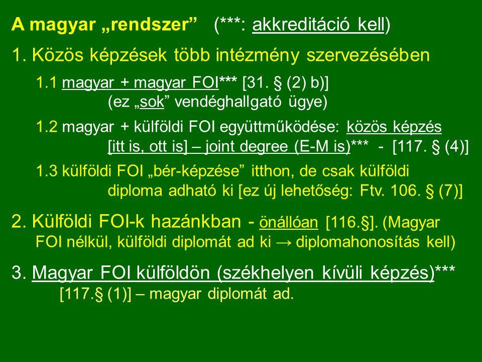 """A magyar """"rendszer (***: akkreditáció kell)"""