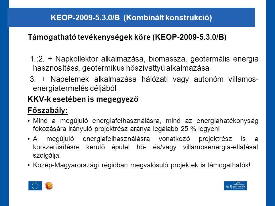 KEOP-2009-5.3.0/B (Kombinált konstrukció)