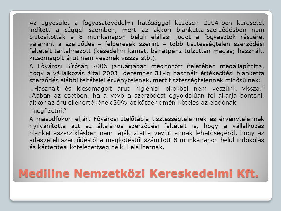 Mediline Nemzetközi Kereskedelmi Kft.