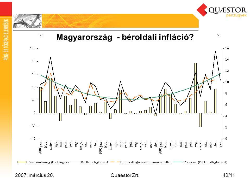 Magyarország - béroldali infláció