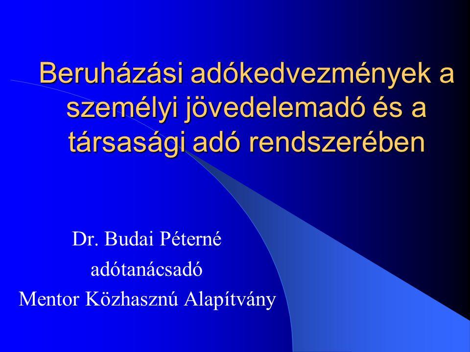 Dr. Budai Péterné adótanácsadó Mentor Közhasznú Alapítvány