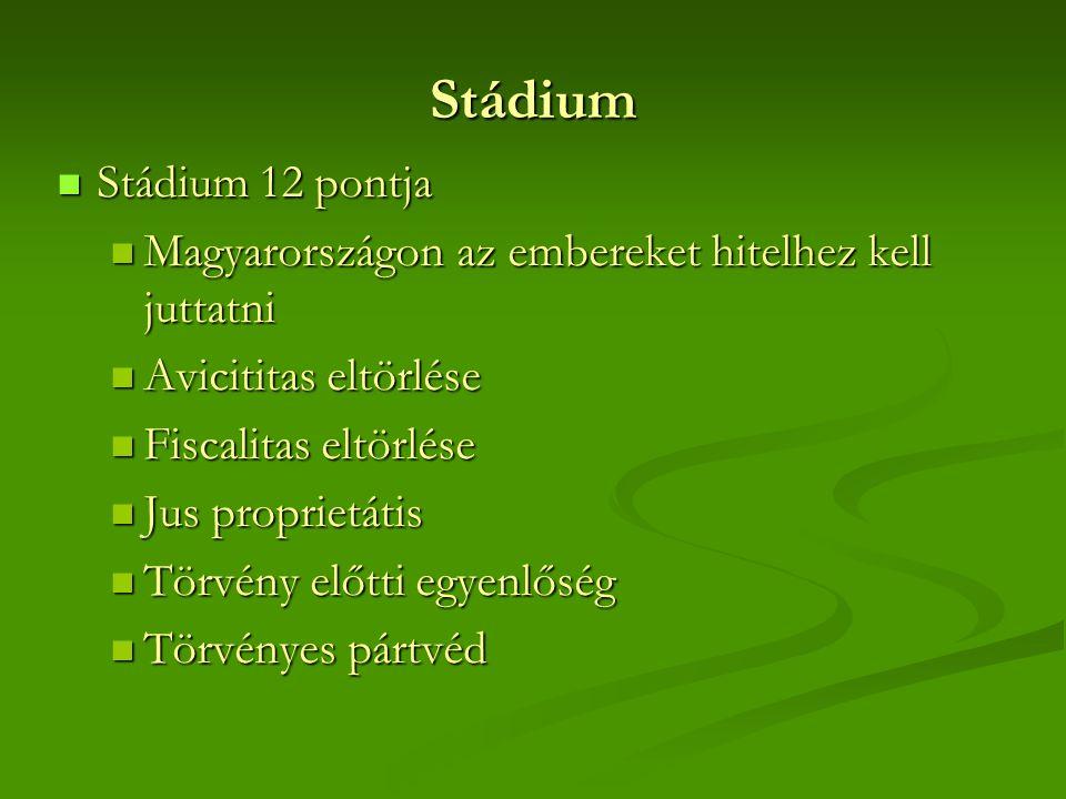Stádium Stádium 12 pontja