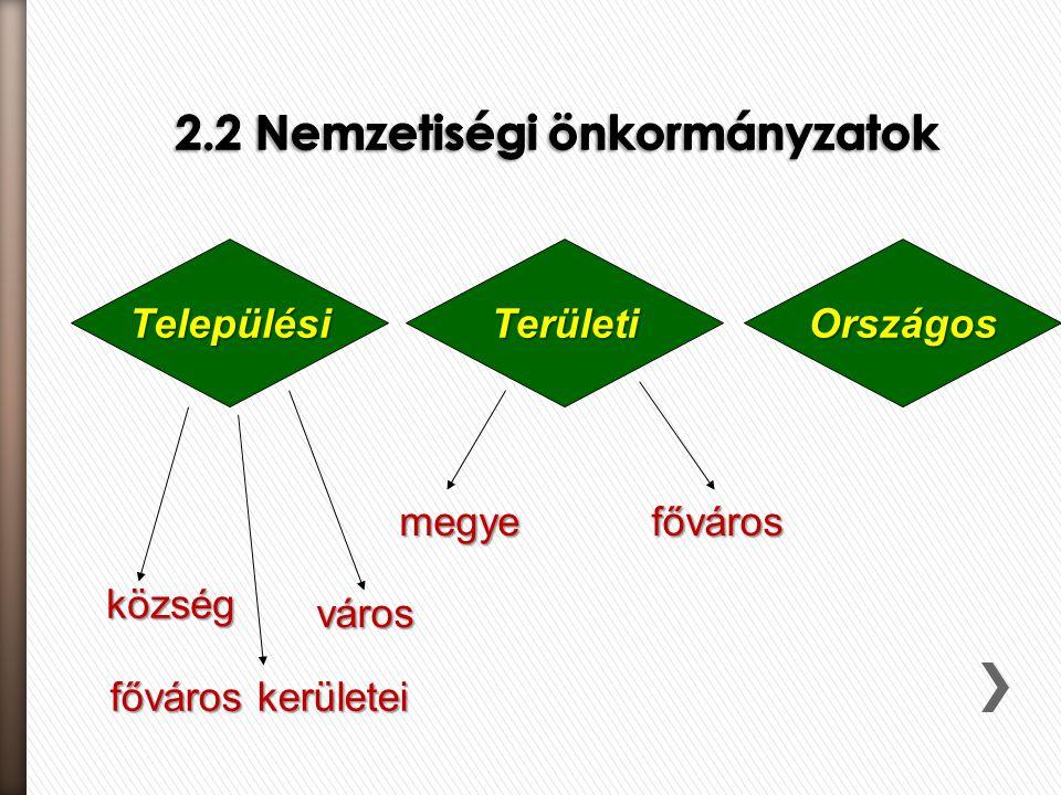 2.2 Nemzetiségi önkormányzatok