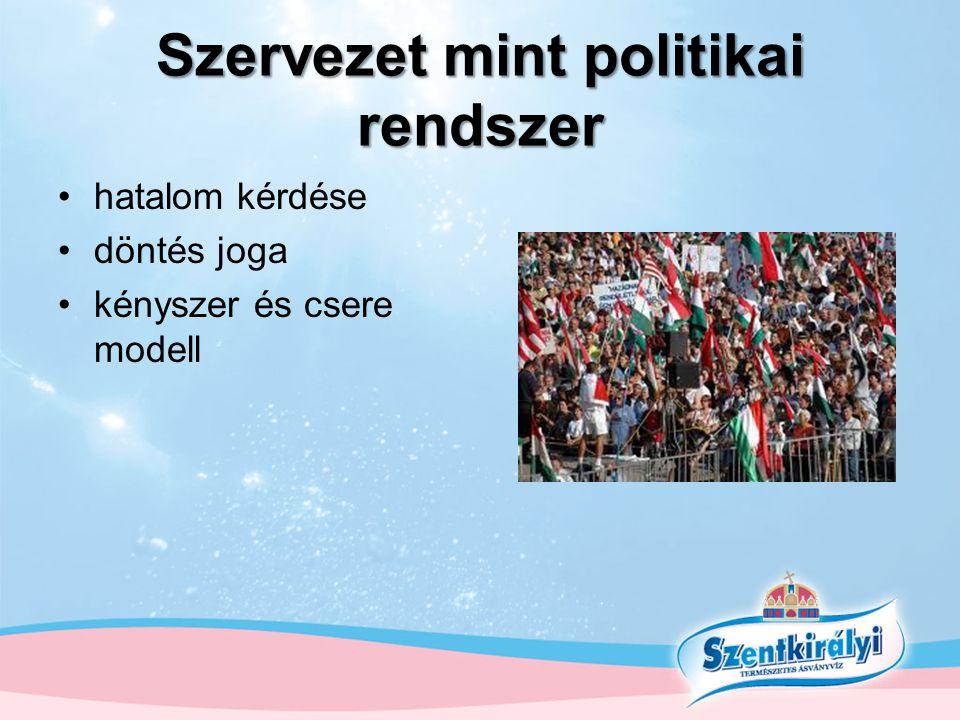 Szervezet mint politikai rendszer