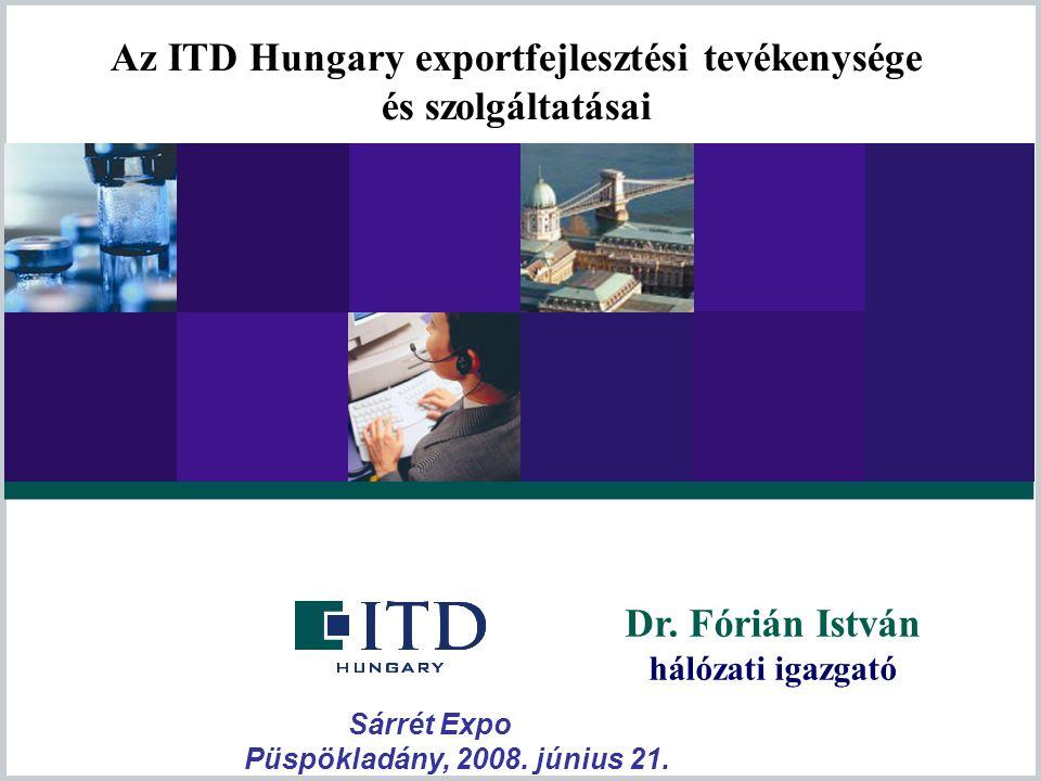 Az ITD Hungary exportfejlesztési tevékenysége és szolgáltatásai
