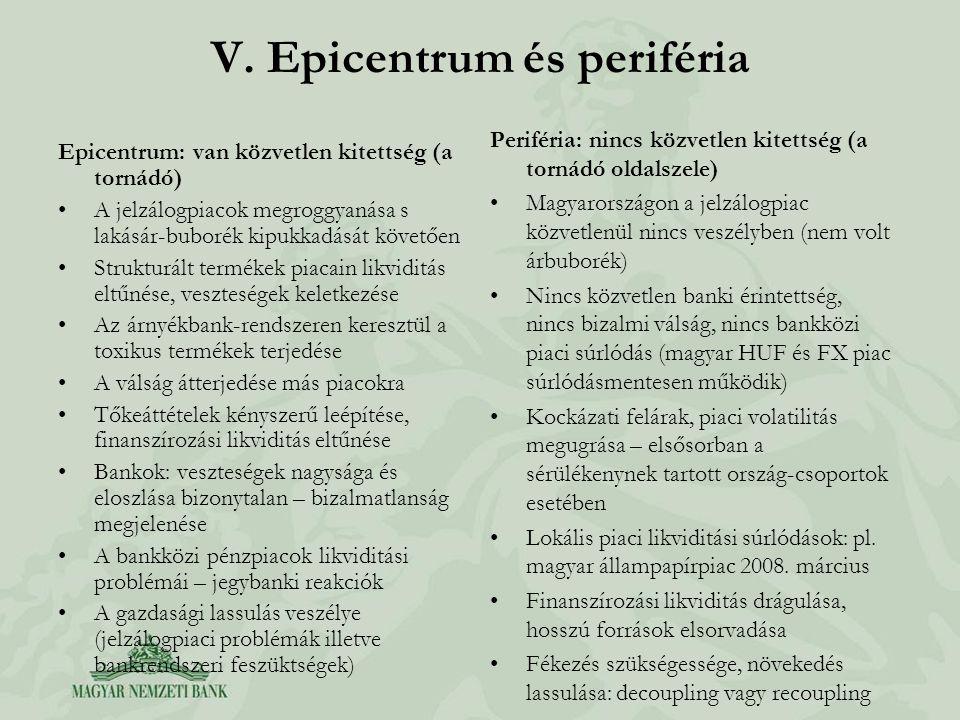 V. Epicentrum és periféria