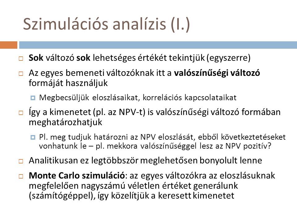 Szimulációs analízis (I.)
