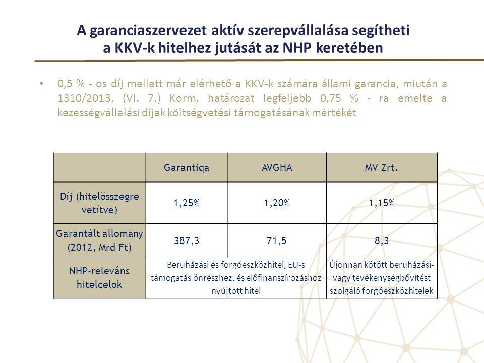 A garanciaszervezet aktív szerepvállalása segítheti a KKV-k hitelhez jutását az NHP keretében